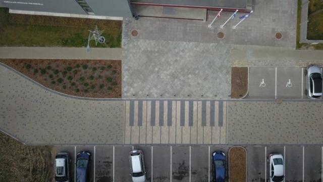 Autostāvvietas paplašināšana pie Mūzikas skolas Poruka prospektā, Jūrmalā 2019
